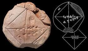 Tableta de geometría datada en la era de Babilonia